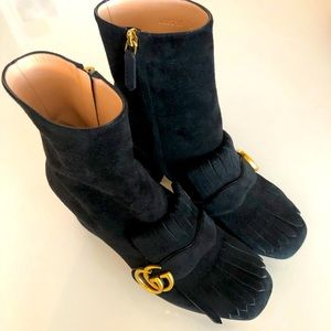 Gucci Double G black suede boot